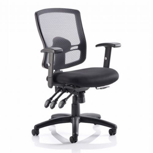 Keswick 3 Mesh Heavy Duty Office Chair 23.5 Stone